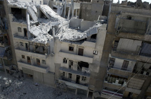 Thousands of buildings in Aleppo are susceptible to falling down due to partial destruction or destruction of the infrastructure. Many buildings have also been affected by the destruction around them.