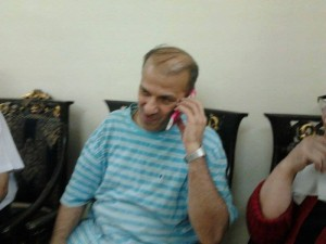 Adnan Qassar in his home following his release