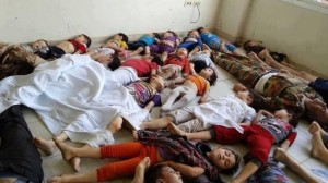 More than 1300 were killed in the chemical attacks launched by the Syrian regime on the Eastern Ghouta on 21/8/2013.
