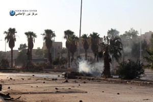 The dropping of barrels on Bab al-Neirab led to the explosion of a bus and the death of all its passengers