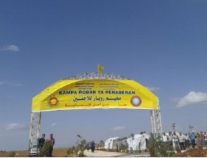 A camp was set up in Afreen for refugees from Ain al-Arab
