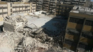 On 30/4/2014, Ain Jalut school in al-Ansari, Aleppo, was targeted with a rocket. 25 were killed, among them 17 children.
