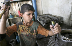 Child labour is considered the primary reason behind 75% of the drop out rate for Syrian children