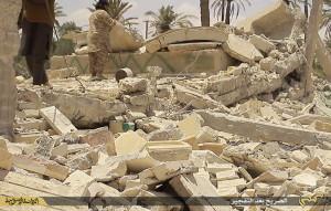 isis shrine bombed