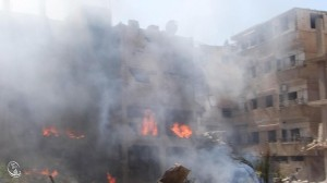 Daraya napalm bombing 2