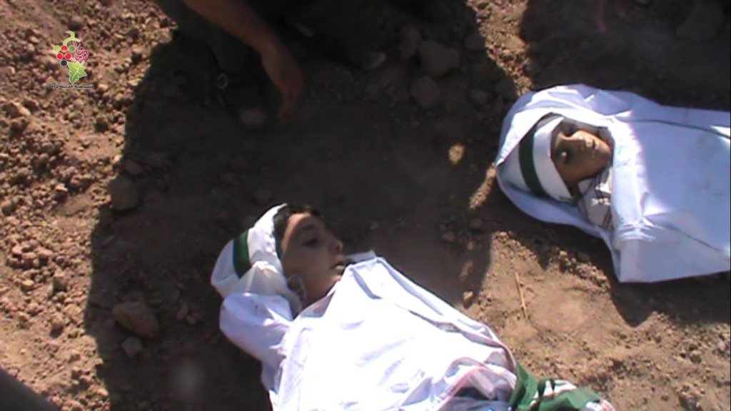 The children victims in Douma are buried