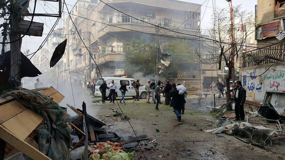 The after effects of the air strikes on Douma