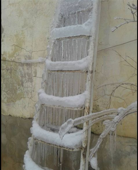 The dramatic drop in temperature has added to the humanitarian suffering in Madaya- picture taken in Madaya on Madaya