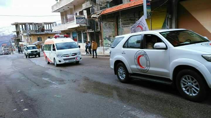red crescent delegation enters madaya