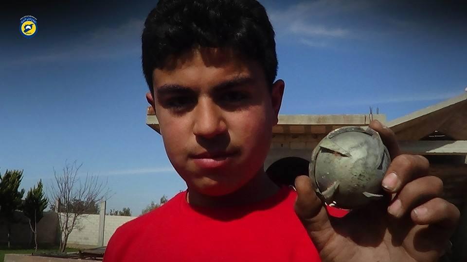 Al-Halmouz, al-Ghanto, Tirma'ala, and Dar al-Kabirah were bombed with cluster bombs yesterday
