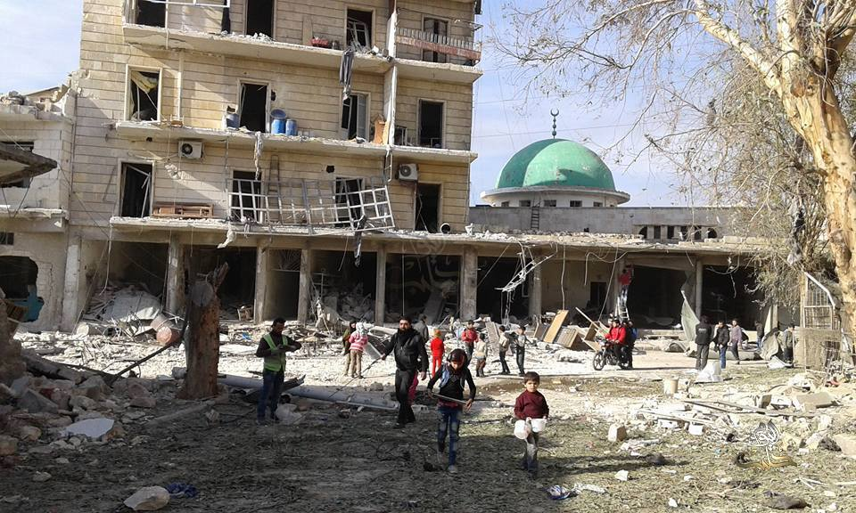 mosque targeted aleppo