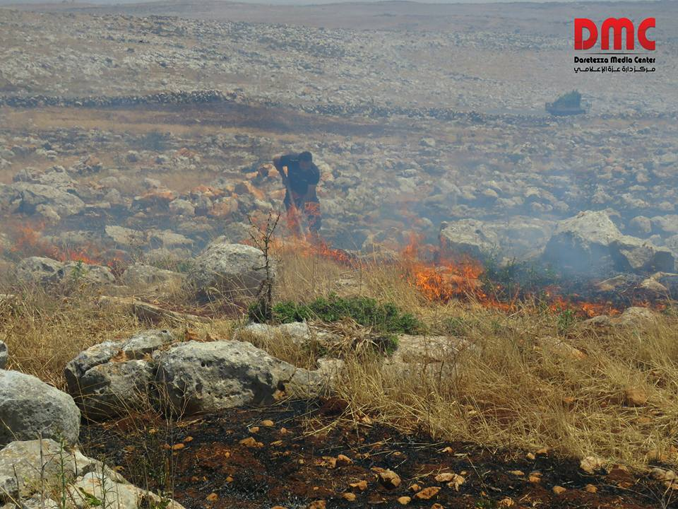 fires erupt in neighbouring farm land