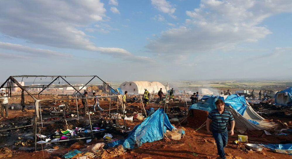 The Kamunah Camp following the attack on Thursday evening