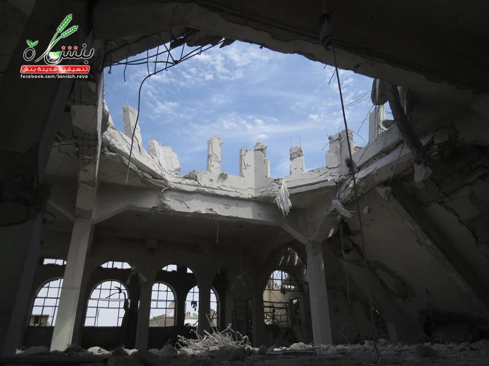 Shuaib Mosque in Binish was also damaged greatly.