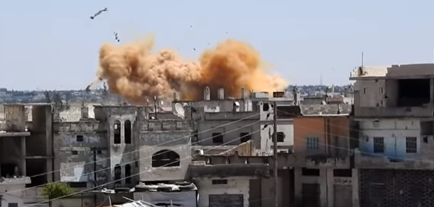 The moment in which the vacuum missile exploded in al-Ghanto