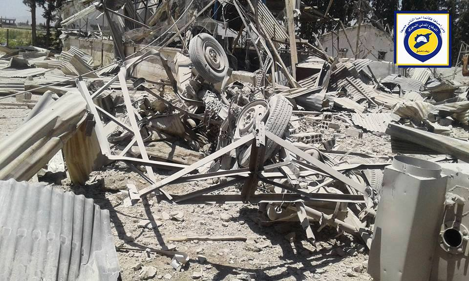 Damage caused to the Civil Defence Centre in al-Marj