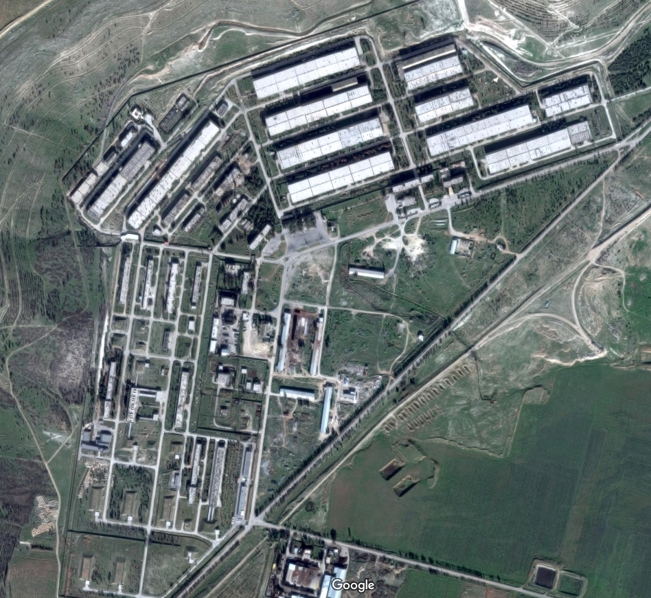 The defence factories in al-Safeera, where it is believed that barrel bombs are made