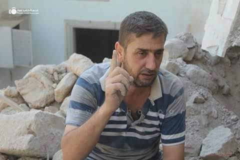 Activist Ali abul Joud, whose entire family was killed by a barrel bomb.