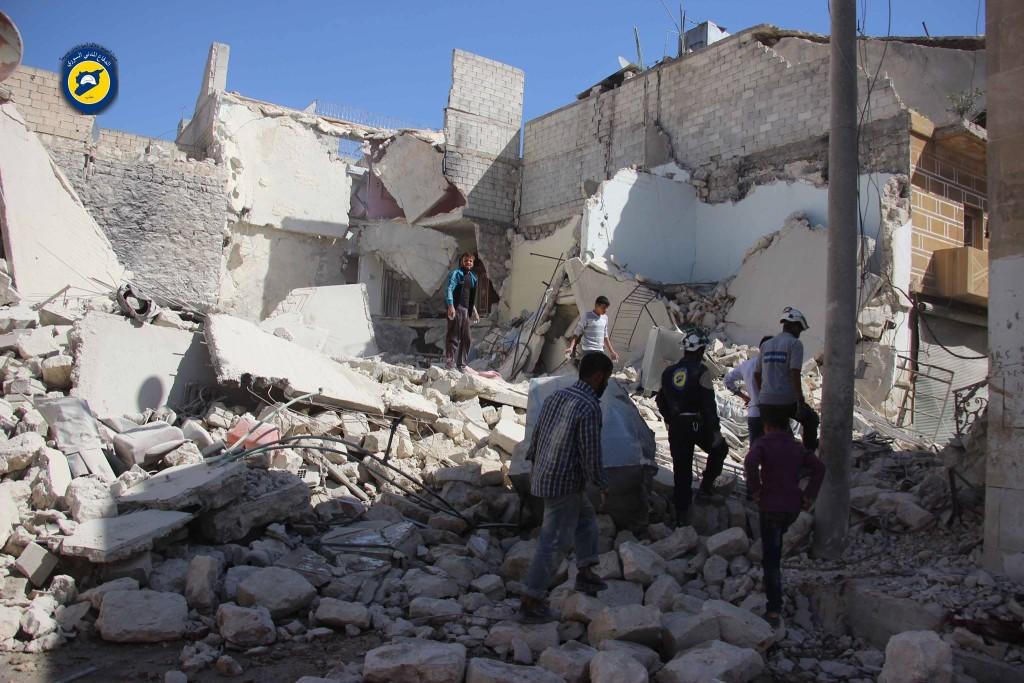 The effects of bombing on Bustan al-Basha