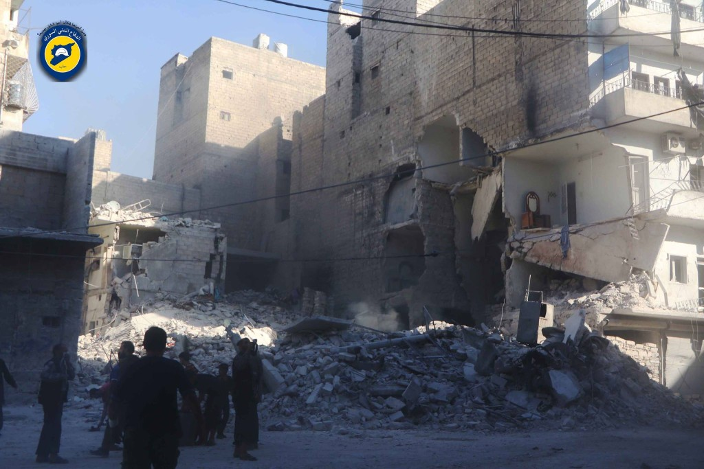 The effects of bombing on al-Firdaws
