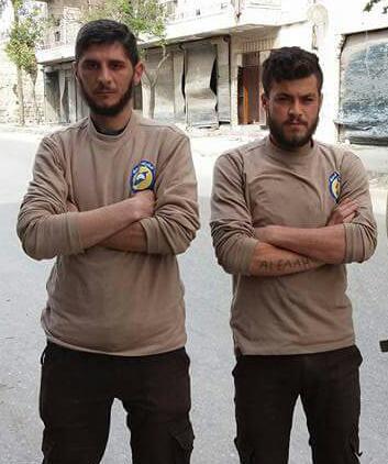 The bombing on al-Saliheen killed civil defence officers Hasan Hanan and Ihsaan Dalati