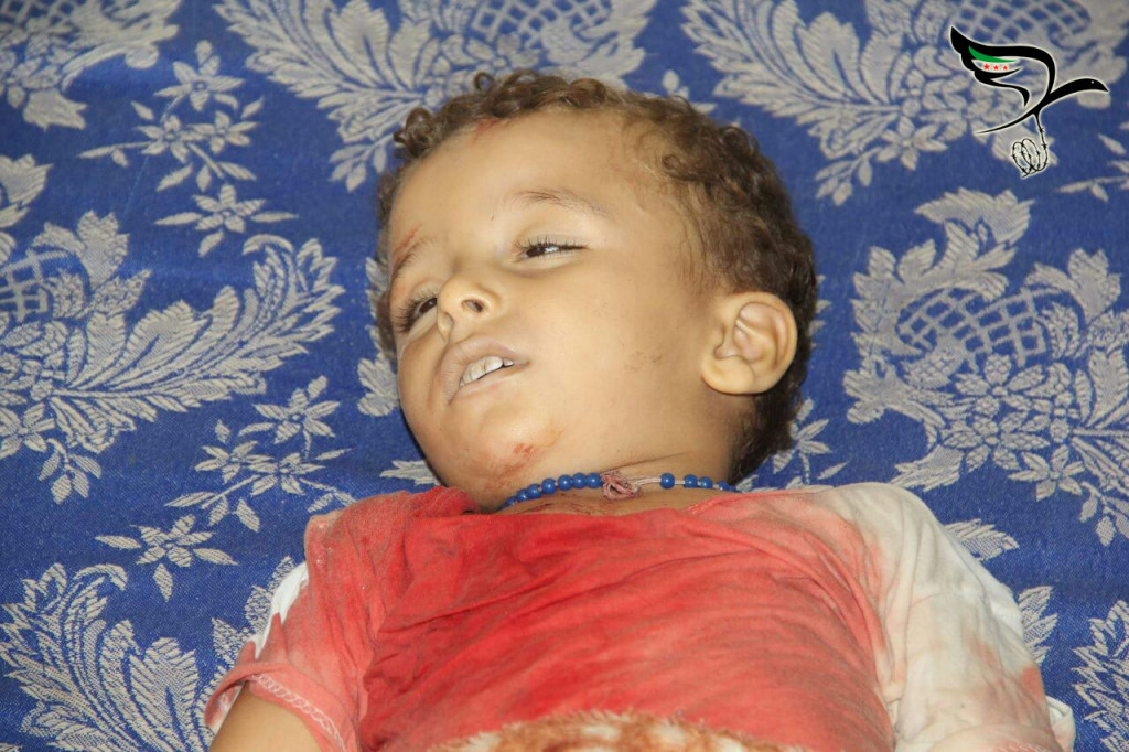 A child killed in the massacre