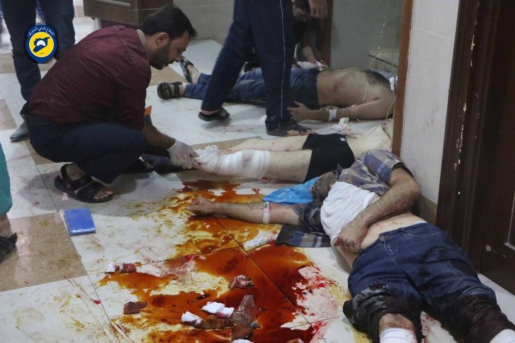 Cluster bombs on Salahidin killed 3 people
