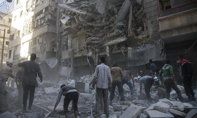 An image taken when the hospital was bombed two days ago.