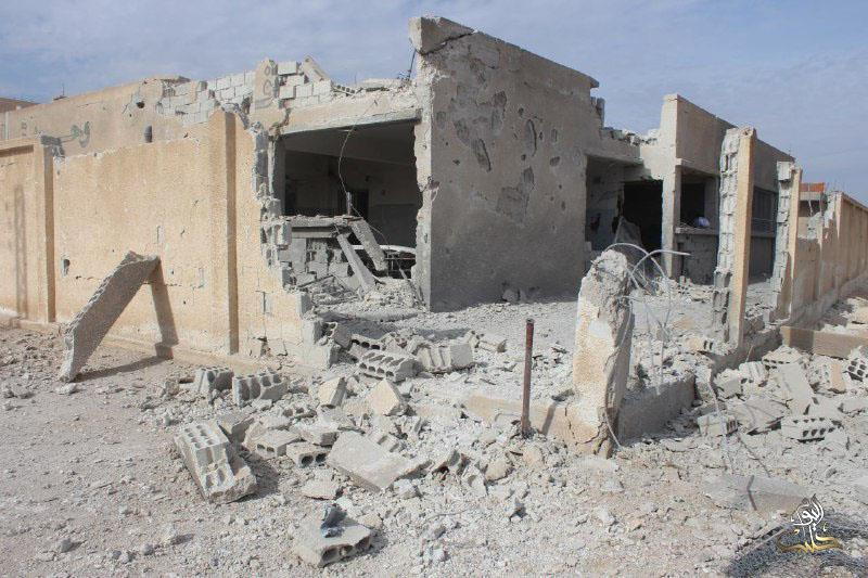 Great material damage was caused to the primary school targeted in al-Nashabiah