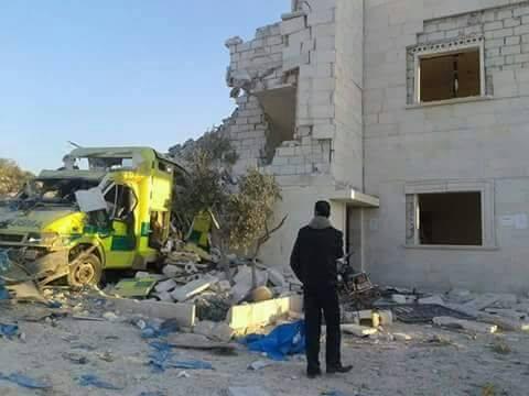 Air strikes targeted Shafaq hospital in Tarmanin
