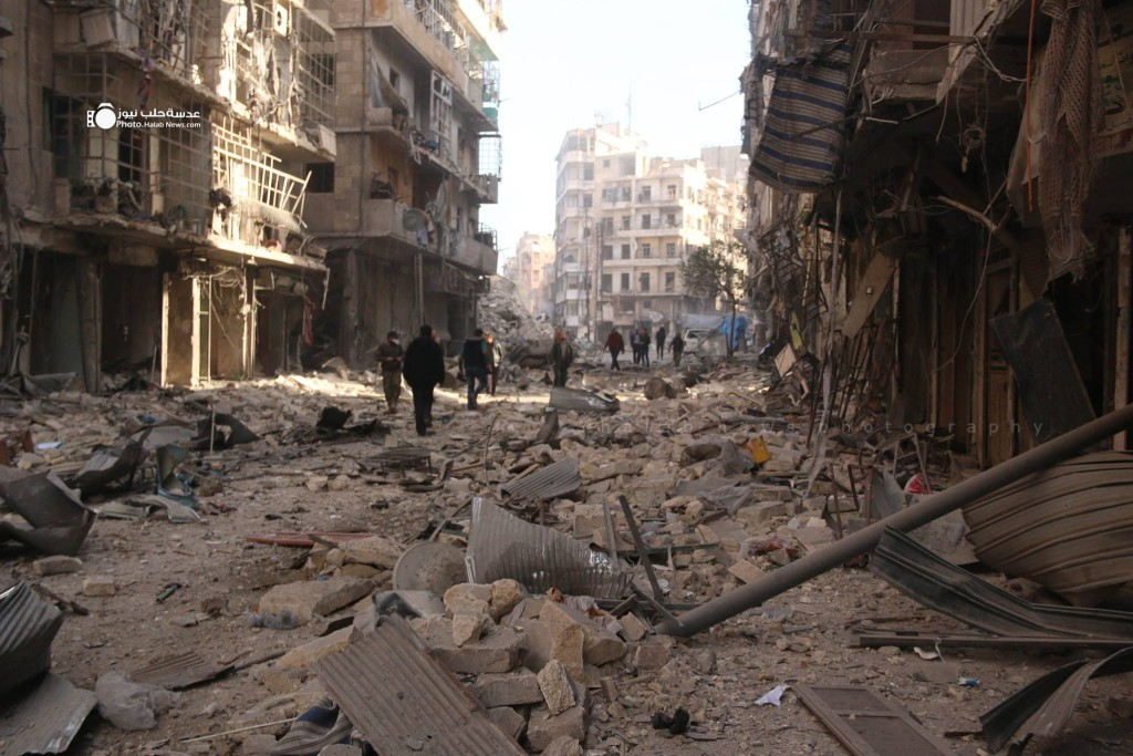 The effects of Saturday morning's bombing on al-Sha'aar