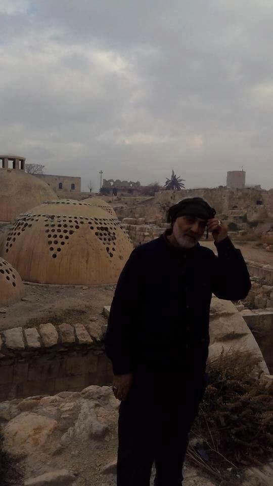 Iranian General Qasem Soleimani in Aleppo, as depicted on Iranian websites