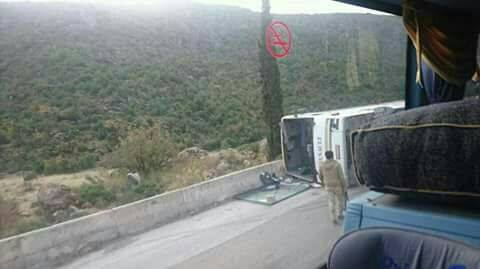 A lady was killed as a result of the overturning of one of the coaches