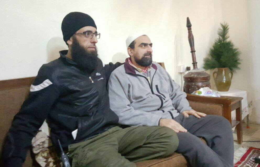 Hasan Sufan (right) after his release today