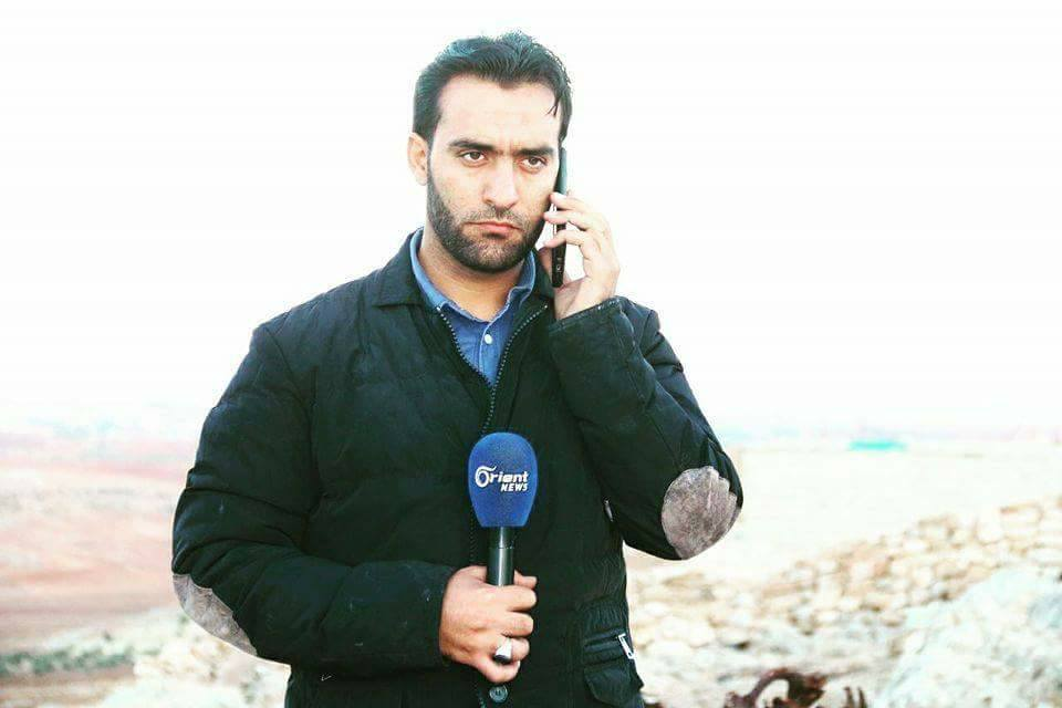 Saif al-Abdullah, a correspondent of the Orient TV channel, was injured whilst covering clashes in rural Hama