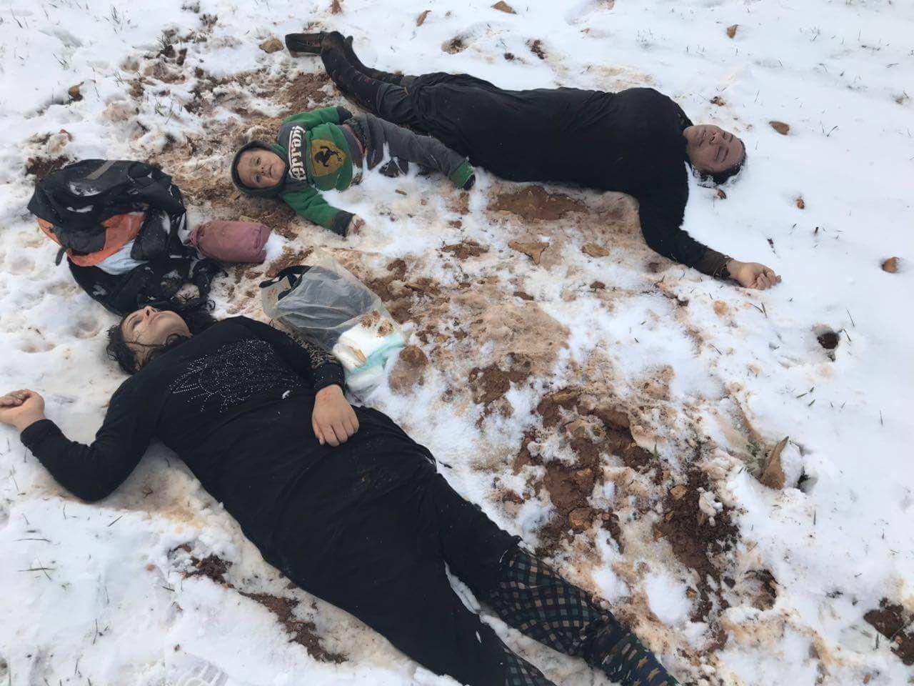 syrians freezing in lebanon
