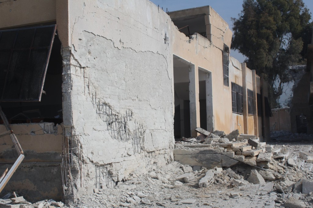 The bombing targeted a health centre and two neighbouring schools