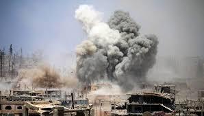 Daraa bombed