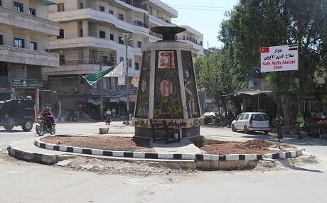 Suriye'de Türk Silahlı Kuvvetleri (TSK) ve Özgür Suriye Ordusu'nun (ÖSO) terörden arındırdığı Afrin ilçesinde, Afrin Yerel Meclisi tarafından ilçe merkezindeki bulvarların isimleri değiştirildi. Nevruz Bulvarı'na Selahhaddin Eyyubi adı verildi. ( Hişam el Homsi - Anadolu Ajansı )