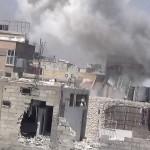 القصف بالطيران على البيوت السكنية في القابون في دمشق 13/7/2013
