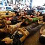 مجزرة مروعة نتيجة قصف المدنيين بالغازات السامة في ريف دمشق
