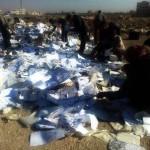 تنظيم داعش يقوم بإحراق سجلات النفوس في مدينة الباب