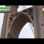 دير الزور : آثار الدمار الذي تعرض له الجسر المعلق