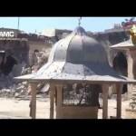 حلب : تدمير مئذنة الجامع الاموي الكبير