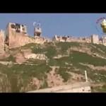 آثار الدمار على قلعة المضيق