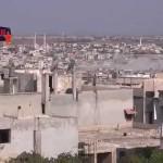قصف بالطيران الحربي على مدينة الرستن في حمص 17/8/2014