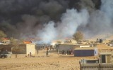 أدى هجوم الجيش اللبناني إلى إحراق عدد كبير من الخيم في المخيمات التي تم استهدافها