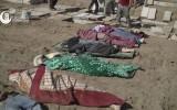 عدد من ضحايا المجزرة قبيل دفنهم