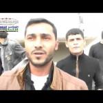 مكان سقوط برميل متفجر في مدينة اللطامنة في حماة 29-11-2014