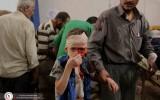استقبلت النقطة الطبية في دوما أكثر من 100 جريح بعد الغارة التي استهدفت السوق الشعبي في المدينة
